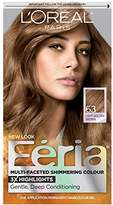 L'Oreal Feria Permanent Hair Color, 63 Sparkling Amber (Light Golden Brown)