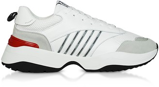 DSQUARED2 White Leather and Suede Men's Sneakers