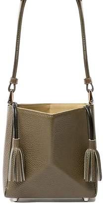 The Common Knowledge Mini Bone Bag In Olive Bronze Leather
