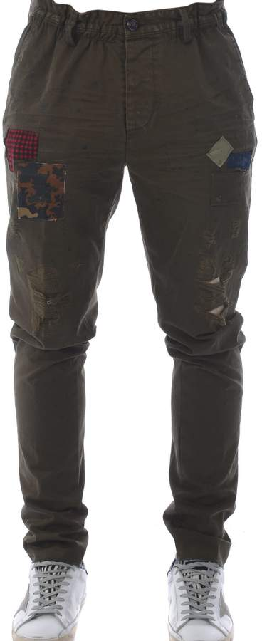 DSQUARED2 Distressed Patched Trousers