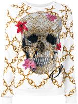 Philipp Plein skull and chain sweatshirt - women - Cotton - M
