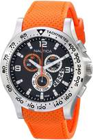 Nautica Men's N19601G Orange Silicone Swiss Quartz Watch with Dial