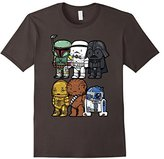 Star Wars Boba Trooper Vader Chewy Chibi Graphic T-Shirt