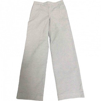 R By 45 Rpm Blue Cotton Trousers for Women