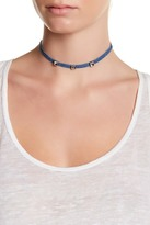 Stephan & Co 3 Square Stud Denim Choker