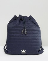 adidas Navy Quilted Bucket Bag