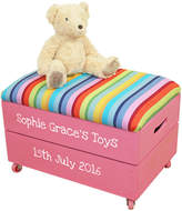 Plantabox Personalised Wooden Toy Box With Padded Lid