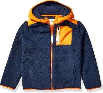 Spotted Zebra Little Boys' Hooded Sherpa Fleece Jacket