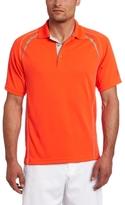 PGA TOUR Men's Short Sleeve Skeletal Piped Reflective Print Golf Polo Shirt