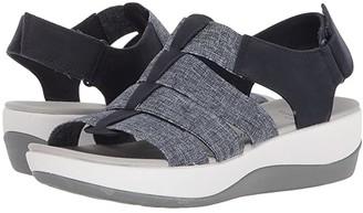 Clarks Arla Shaylie (Sand/White Heathered Elastic) Women's Sandals
