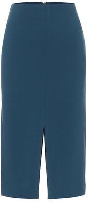 Roland Mouret Exclusive to Mytheresa Moka wool-crepe pencil skirt