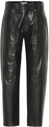 Chloé High-rise cropped leather pants