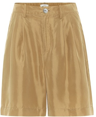 Vince High-waisted habotai silk shorts