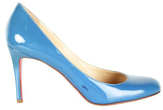 Christian Louboutin Royal Blue Patent Leather MIss Gena Pumps Size 37