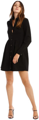 Missguided Denim Smock Dress Black