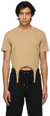 Dion Lee Tan Cotton Garter T-Shirt