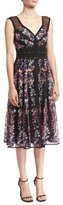 Nanette Lepore Michelle Floral-Embroidered Studded Cocktail Dress