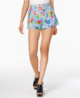 Love Moschino Cotton Floral-Print Denim Shorts