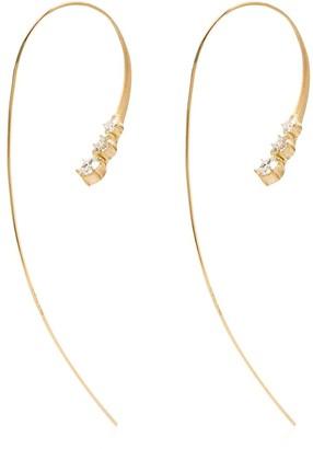 ara 18kt yellow gold drop diamond earrings