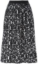 Roberto Collina printed pleated skirt