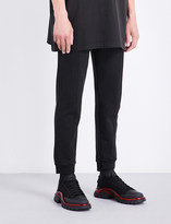 Vetements Tapered cropped mid-rise stretch-cotton jogging bottoms