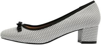 M&Co Cortune bow trim low block heel