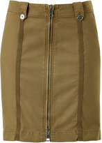 Burberry Khaki Green Skirt with Front Zip