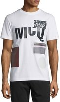 McQ by Alexander McQueen Multipattern Logo-Print T-Shirt, Optic White