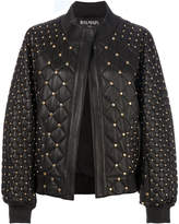 Balmain studded and quilted bomber jacket