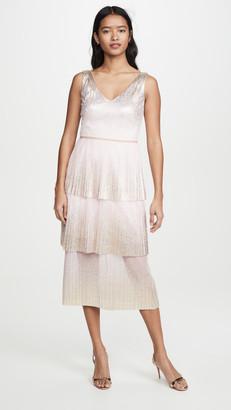 Marchesa V Neck Dress