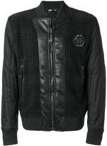Philipp Plein tartan design bomber jacket