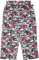 Intimo Gray & Red Camo Superman Pajama Bottoms - Boys