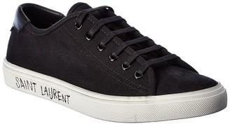 Saint Laurent Malibu Used Canvas & Leather Sneaker