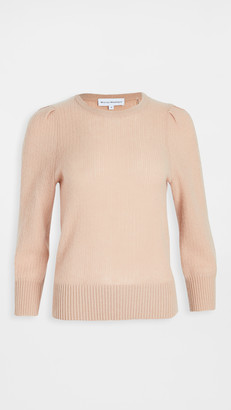 White + Warren Mini Cable Puff Sleeve Cashmere Sweater