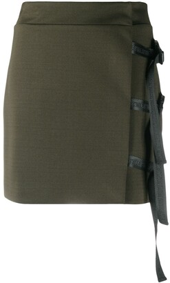 John Richmond Strap Detail Mini Skirt