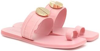 Mercedes Castillo Nolene embossed leather sandals