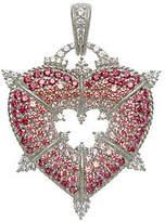 Judith Ripka Sterling & Diamonique Heart Enhanc
