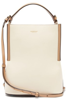 Burberry Peggy Leather Bucket Bag - Womens - Cream Multi