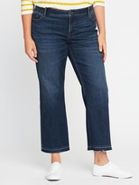 Old Navy Mid-Rise Plus-Size Cropped Kick-Flare Jeans