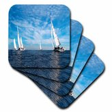 3dRose cst_1248_3 Sail Boats-Ceramic Tile Coasters, Set of 4
