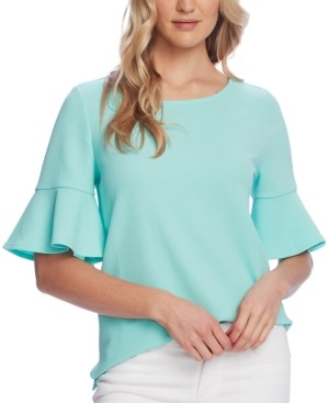 Vince Camuto Textured Bell-Sleeve Top