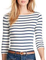 Polo Ralph Lauren Striped Cotton Boat Neck Tee