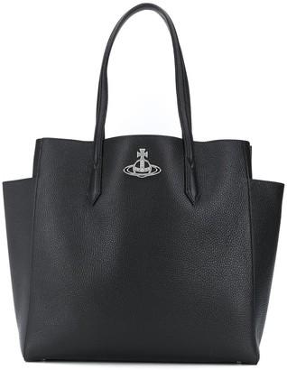 Vivienne Westwood Logo Plaque Zipped Tote Bag