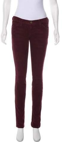 Current/Elliott Corduroy Low-Rise Jeans
