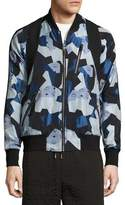 MCM x CR Collection Visetos Jacquard Bomber Jacket, Blue
