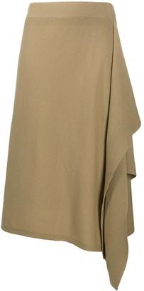 MICHAEL Michael Kors Cashmere Ruffle Panel Skirt