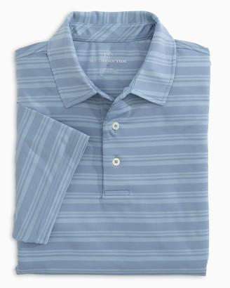 Southern Tide Tonal Striped Performance Polo Shirt