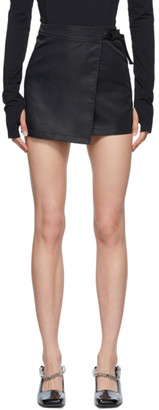 Alyx Black Recycled Nylon Wrap Miniskirt