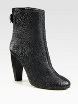 Tibi Layla Embossed Leather Ankle Boots