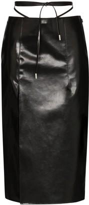 Supriya Lele Rubberised Utility Tie Midi Skirt
